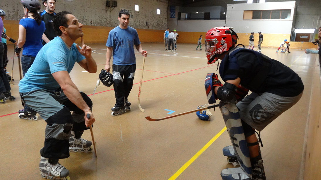 Laurent entraineur hockey